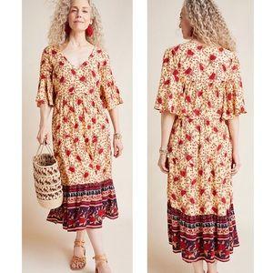 NWT Anthropologie Melia Midi Dress